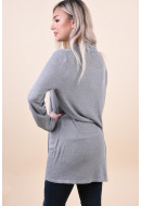 Cardigan Dama Vila Hawai Light Grey Melange