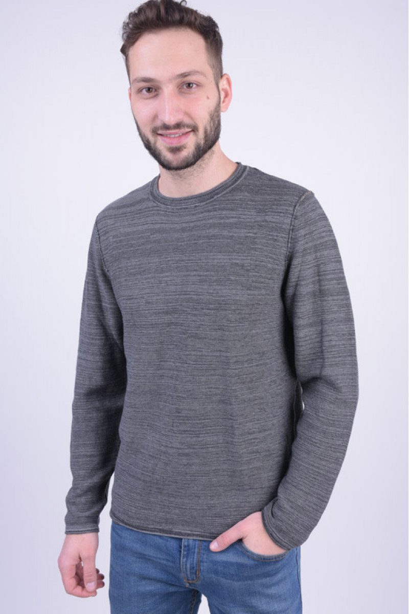 Pulover Barbati Jack&Jones Jjvbale Knit Crew Neck Parisian Night