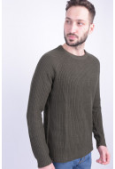 Pulover Barbati Jack&Jones Jorpannel Knit Crew Neck Forest Night