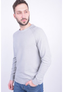 Pulover Barbati Jack&Jones Jprgavin Knit Crew Neck Light Grey Melange