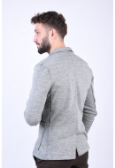 Sacou Barbati Jack&Jones Shot Blu Light Grey Melange