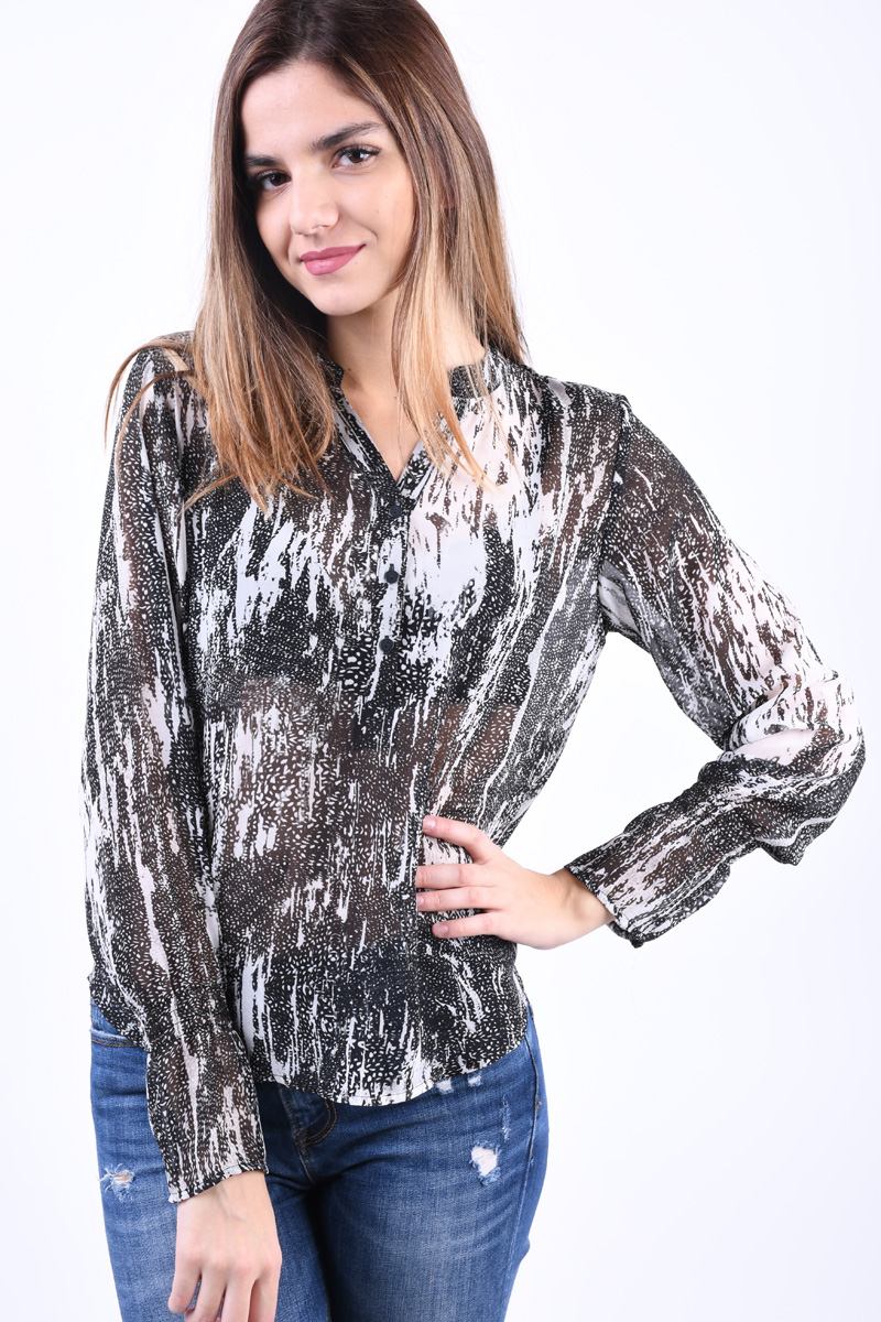 Bluza Dama Object Lisa Gardenia/Black
