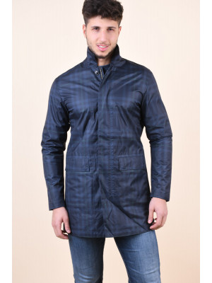 Geaca Barbati Selected Julian Flex Grey Checks Blue/Dark Grey