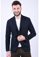 Sacou Barbati Selected Slim-Cut Dark Navy